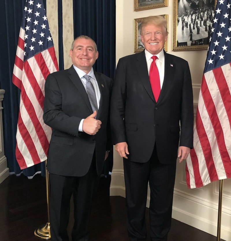Lev Parnas and U.S. President Donald Trump.