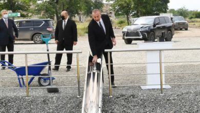 President Ilham Aliyev laid foundation stone for tunnel to be constructed